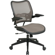 Office Star Mid-Back Mesh Conference Chair, Adjustable Arm, Latte