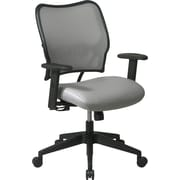 Office Star SPACE Fabric Bankers Office Chair, Fixed Arms, Shadow (13-V22N1WA)