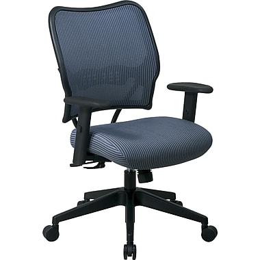 Office Star Space Seating Mid-Back Fabric Conference Chair, Adjustable Arm, Blue