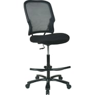 Office Star Space® Fabric Big and Tall Double Dark Air Grid® Back Drafting Chair, Black