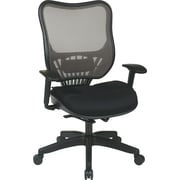 Office Star Space® Mesh Executive Chair with Latte Air Grid® Seat and Back, Black