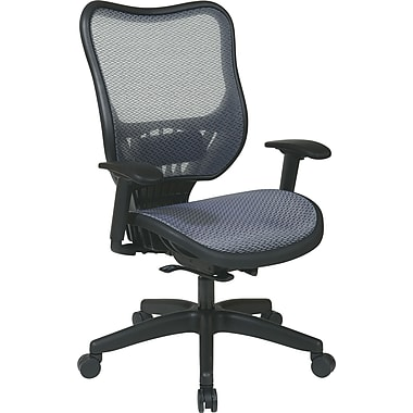 Office Star Space® Mesh Executive Chair with Light Air Grid® Seat and Back, Light Blue