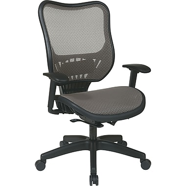 Office Star Space® Mesh Executive Chair with Latte Air Grid® Seat and Back, Brown