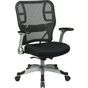 Office Star Space® Mesh Deluxe Chair with R2 SpaceGrid® Back, Flip Arms and Platinum Base