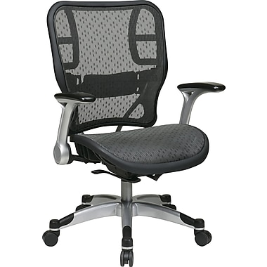 Office Star Space® Fabric Platinum Task Office Chair with R2 SpaceGrid® Seat and Back, Platinum