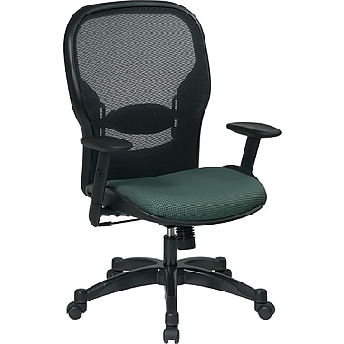 Office Star Space® Fabric Manager Chair with Professional AirGrid® Back, Black