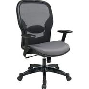 Office Star Space® Fabric Manager Chair with Professional AirGrid® Back, Steel