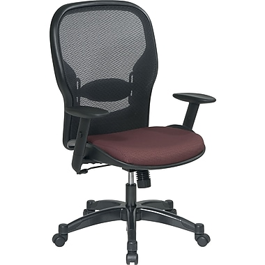 Office Star Space® Fabric Manager Chair with Professional AirGrid® Back, Rosewood