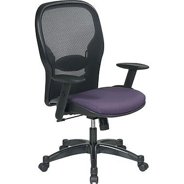 Office Star Space® Fabric Manager Chair with Professional AirGrid® Back, Grape