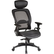 Office Star Space® Mesh Manager's Chair with Adjustable Headrest, Black
