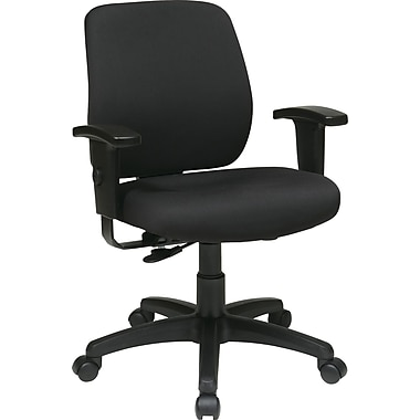 Office Star WorkSmart™ FreeFlex® Fabric Deluxe Task Chair with Ratchet Back and Arm, Coal