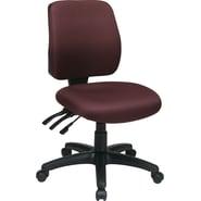 Office Star WorkSmart™ FreeFlex® Fabric Mid Back Ergonomic Task Chair without Arm, Burgundy