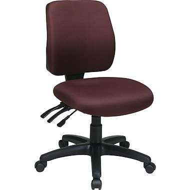 Office Star WorkSmart™ FreeFlex® Fabric Mid Back Ergonomic Task Chair without Arm, Burgundy