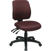 Office Star 33320-227 Work Smart Fabric Mid-Back Armless Task Chair, Burgundy