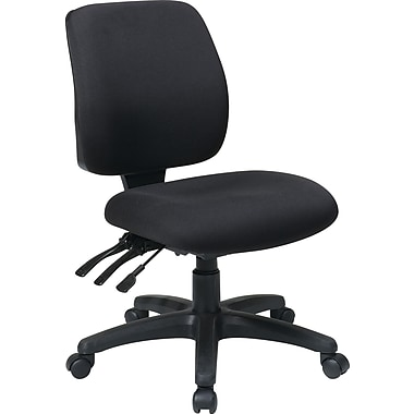 Office Star WorkSmart™ FreeFlex® Fabric Mid Back Ergonomic Task Chair without Arm, Coal