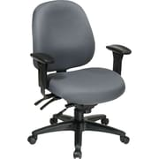 Office Star WorkSmart™ Fabric Mid Back Task Office Chair with Seat Slider, Gray
