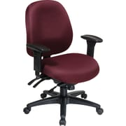 Office Star WorkSmart™ Fabric Mid Back Task Office Chair with Seat Slider, Burgundy