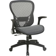 Office Star Space® Fabric Deluxe Chair with R2 SpaceGrid® Seat and Back, Black