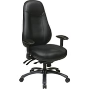 Office Star Multi-function Eco Leather High Back Chair, Black