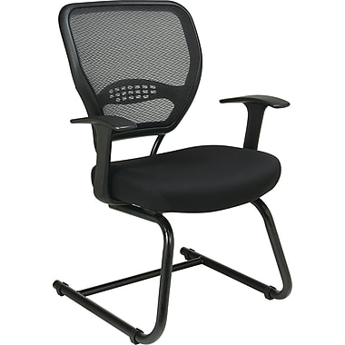 Office Star Space® Professional Air Grid® Back Fabric Guest Chair, Black