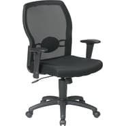 Office Star WorkSmart™ Polyester Woven Mesh Back Task Office Chair, Black