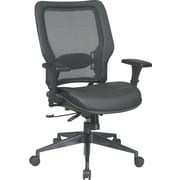 Office Star Space® Leather Manager's Chair with Air Grid® Back, Black