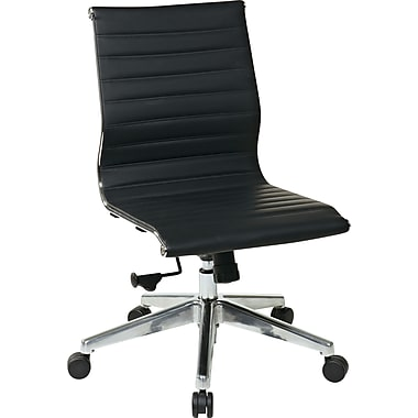 Office Star Proline II® Eco Leather Visitors Chair Without Arm, Black
