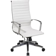 Office Star 74023LT Executive Chair, White