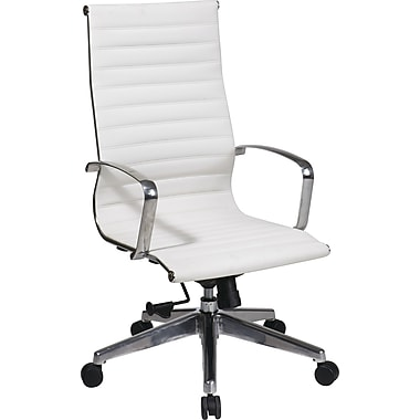Office Star OSP® Furniture Mid Back Executive Chair, White