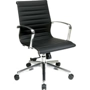 Office Star Proline II® Eco Leather Mid Back Screen Executive Chair, Black