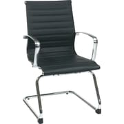 Office Star Aluminum Guest Chair, Black (74653)