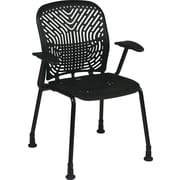 Office Star SpaceFlex Metal Visitors Chair, Raven (801-333AG)