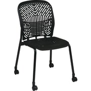 Office Star SpaceFlex Metal Visitors Chair, Raven (801-333C)