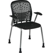 Office Star SpaceFlex® Platinum Seat and Back Guest Chair with Arm and Glide, Raven