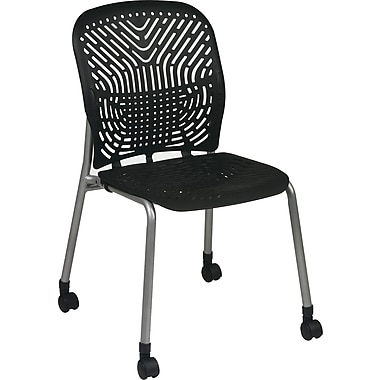 Office Star SpaceFlex® Platinum Seat and Back Guest Chair with Caster, Raven