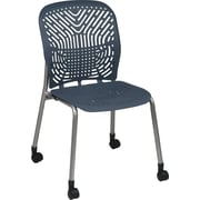 Office Star SpaceFlex® Platinum Seat and Back Guest Chair with Caster, Blue Mist