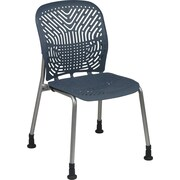 Office Star SpaceFlex® Platinum Seat and Back Guest Chair with Glide, Blue Mist