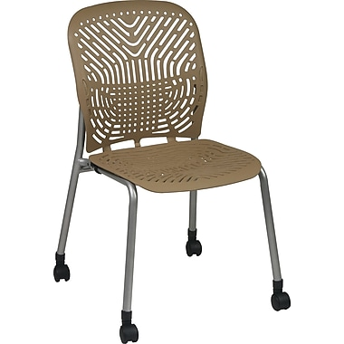 Office Star SpaceFlex® Platinum Seat and Back Guest Chair with Caster, Latte