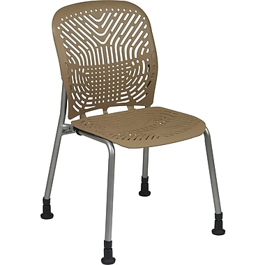 Office Star SpaceFlex® Platinum Seat and Back Guest Chair with Glide, Latte