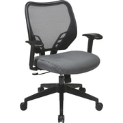 Office Star Space® Fabric Air Grid® Back and VeraFlex® Seat Manager Chair, Charcoal