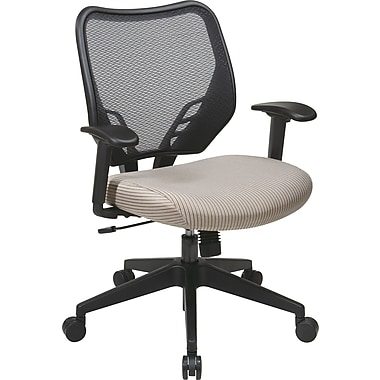 Office Star Space® Fabric Air Grid® Back and VeraFlex® Seat Manager Chair, Latte