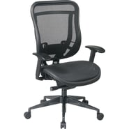 Office Star Space® Mesh High Back Executive Chair with Breathable Seat, Black