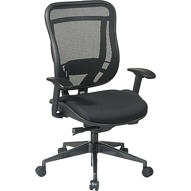 Office Star Space® High Back Executive Chair with Matrex Back, Black