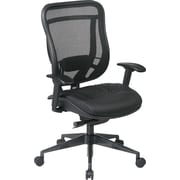 Office Star High-Back Executive Chair, Adjustable Arm, Black