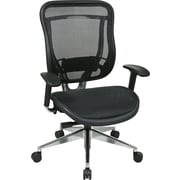 Office Star 818A-11P9C1A8 Space Seating Mesh High-Back Executive Chair with Adjustable Arms, Black