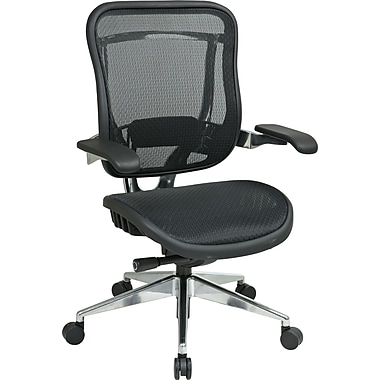 Office Star Space® Leather High Back Executive Chair, Black