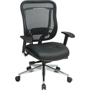 Office Star Space® Leather Executive Office Chair, Black