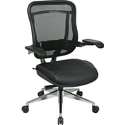 Office Star Space® Mesh High Back Executive Chair, Black