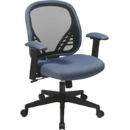Office Star Space® Fabric DuraGrid® Back&Mesh Seat Manager Chair with Adjustable Padded Arm,BlueMist