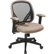 Office Star Space® Fabric DuraGrid® Back & Mesh Seat Manager Chair with Adjustable Padded Arm,Latte